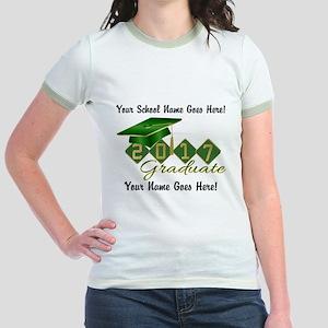 Graduate Green 2017 Jr. Ringer T-Shirt