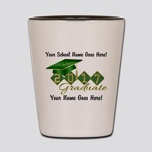 Graduate Green 2017 Shot Glass