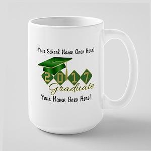 Graduate Green 2017 Large Mug