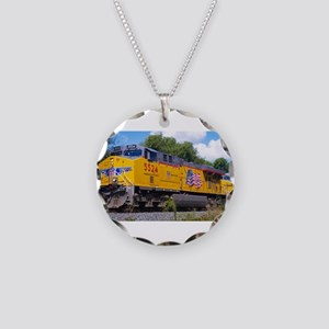 Union Pacific Locomotive Tra Necklace Circle Charm