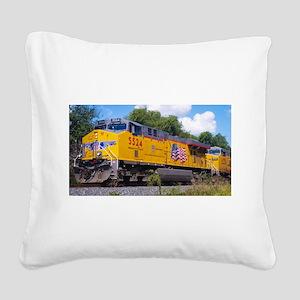 Union Pacific Locomotive Trai Square Canvas Pillow