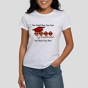 Graduate Red 2017 Women's Classic White T-Shirt