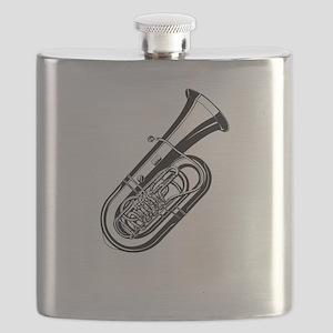 Musical instrument tuba design Flask