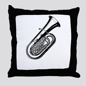 Musical instrument tuba design Throw Pillow