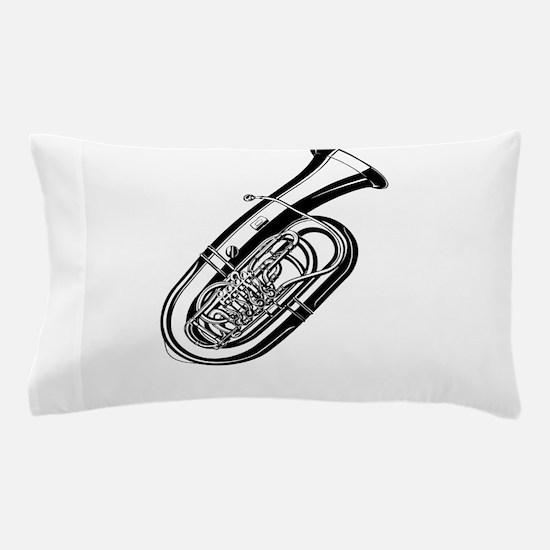 Musical instrument tuba design Pillow Case