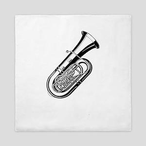 Musical instrument tuba design Queen Duvet