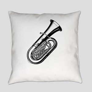 Musical instrument tuba design Everyday Pillow
