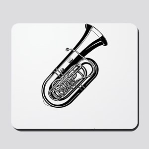 Musical instrument tuba design Mousepad