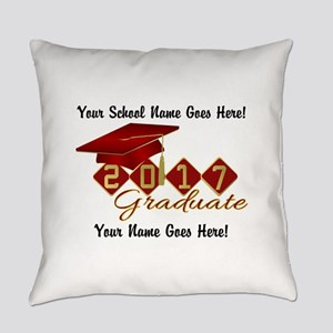 Graduate Red 2017 Everyday Pillow