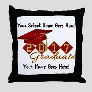 Graduate Red 2017 Throw Pillow