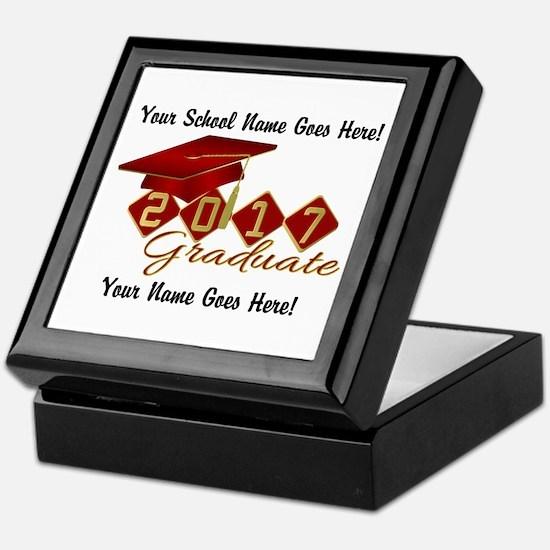 Graduate Red 2017 Keepsake Box