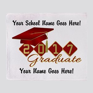 Graduate Red 2017 Throw Blanket