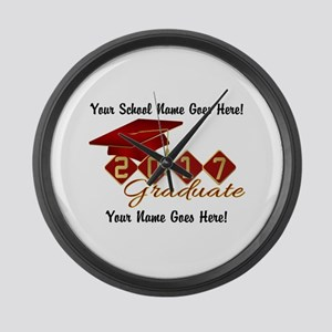 Graduate Red 2017 Large Wall Clock