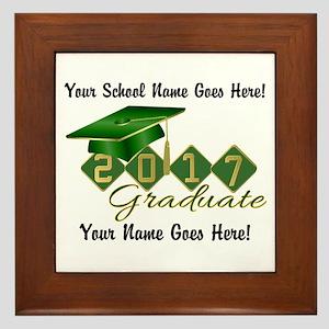 Graduate Green 2017 Framed Tile