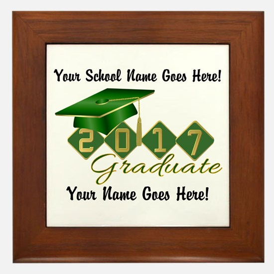 Graduate Green 2017 Framed Tile