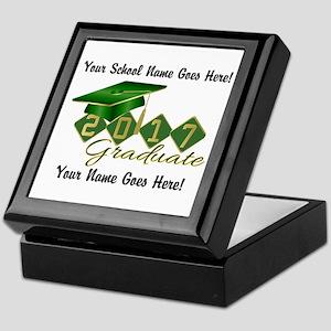 Graduate Green 2017 Keepsake Box
