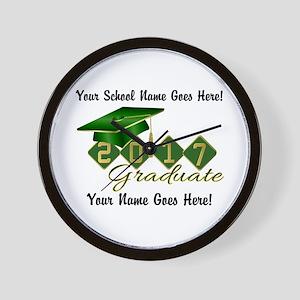 Graduate Green 2017 Wall Clock