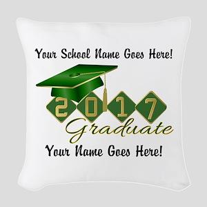 Graduate Green 2017 Woven Throw Pillow