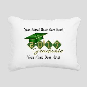 Graduate Green 2017 Rectangular Canvas Pillow