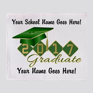 Graduate Green 2017 Throw Blanket