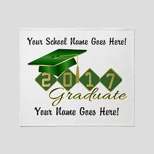 Graduate Green 2017 Throw Blanket