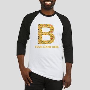 Emoji Letter B Personalized Baseball Tee