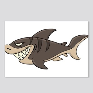 Cartoon angry fish Postcards (Package of 8)