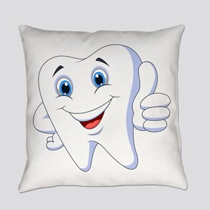 Amusing smiling tooth design Everyday Pillow