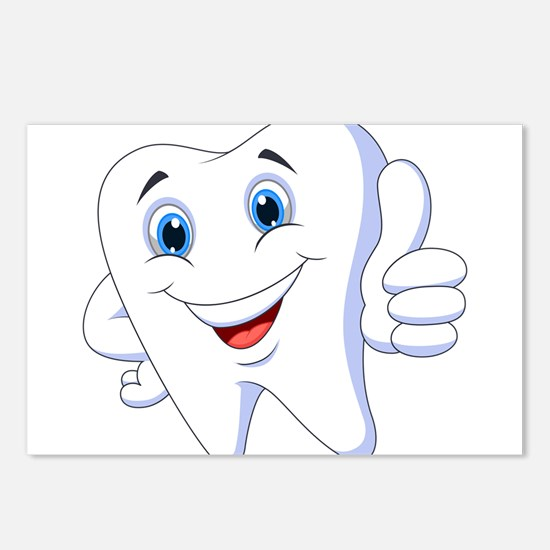 Amusing smiling tooth des Postcards (Package of 8)