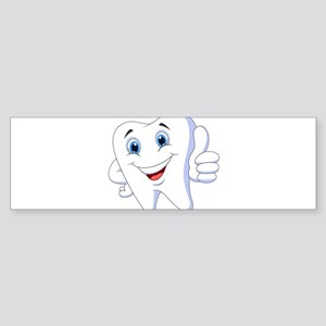 Amusing smiling tooth design Bumper Sticker