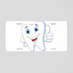 Amusing smiling tooth desig Aluminum License Plate