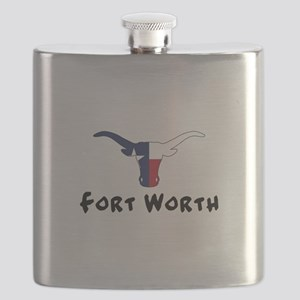 Fort Worth Texas Longhorn Flask