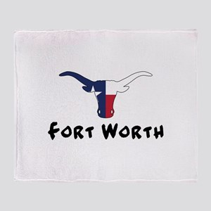Fort Worth Texas Longhorn Throw Blanket