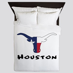 Houston Texas Longhorn Queen Duvet