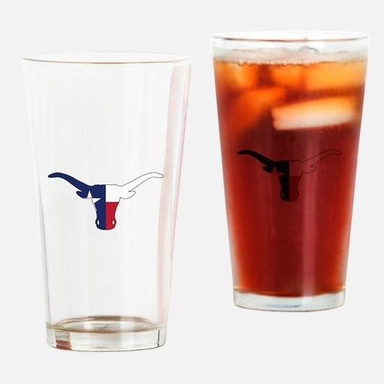 Texas Longhorn Drinking Glass