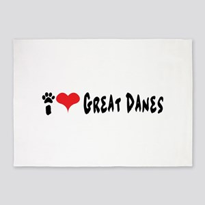 I love Great Danes. 5'x7'Area Rug