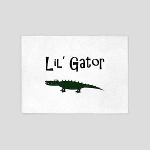 lil gator 5'x7'Area Rug
