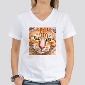 Orange Tabby Painting White T-Shirt