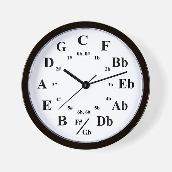 """""""Circle of Fifths"""" Wall Clock"""