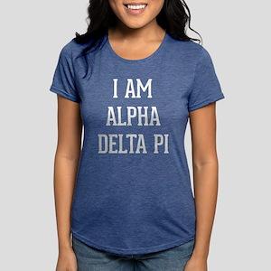 I Am Alpha Delta Pi Womens Tri-blend T-Shirt