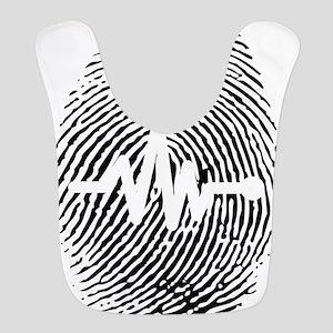 Fingerprint design art Bib