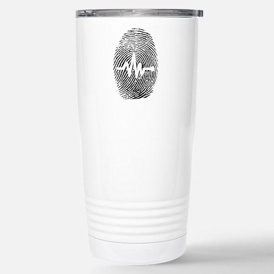 Fingerprint design art Stainless Steel Travel Mug