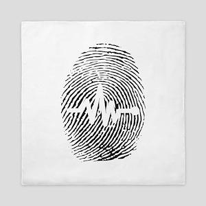 Fingerprint design art Queen Duvet