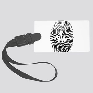Fingerprint design art Large Luggage Tag