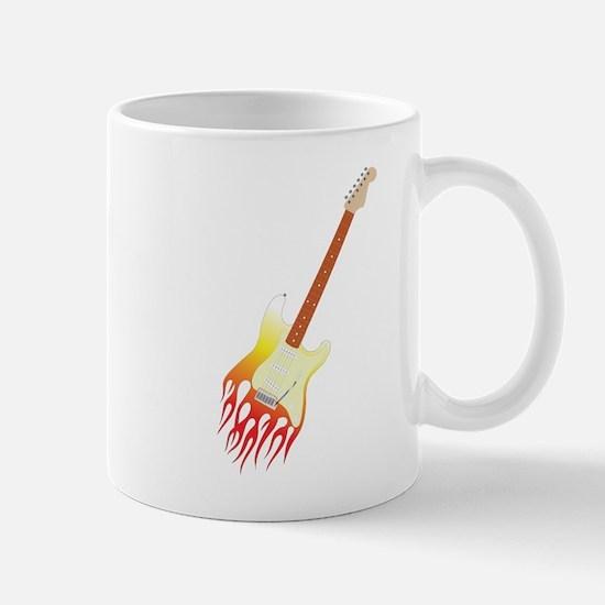 Flame strat guitar Mugs