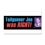 Tailgunner Rectangle Car Magnet