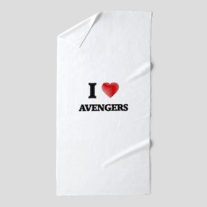 I love Avengers Beach Towel