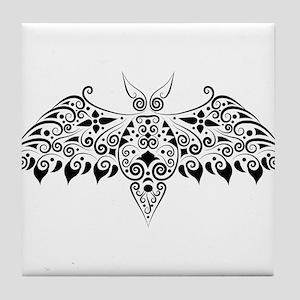 Bat tattoo art Tile Coaster