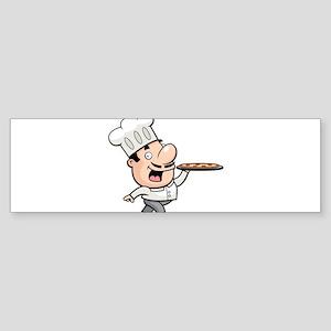 Funny chef design graphic Bumper Sticker