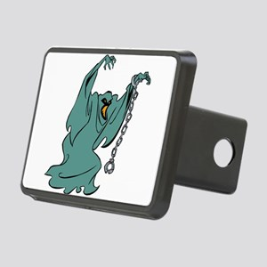 Ghost cartoon with cuffs Rectangular Hitch Cover